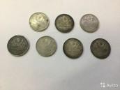 Монеты полтинники 1925г, серебро 900