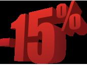 Акция -15% на весь ассортимент!